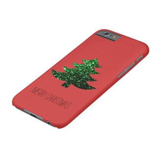 Personifizieren Sie Weihnachtsbaum-Grün-Glitzern Barely There iPhone 6 Hülle