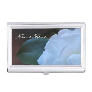 (Personifizieren Sie), weißes Rosen-Foto Visitenkarten Etui