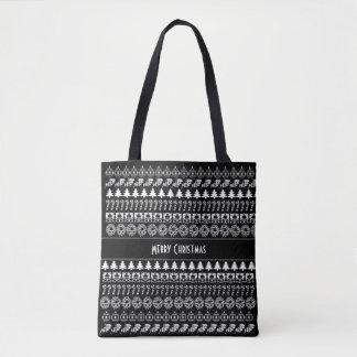 Personifizieren Sie weißes/schwarzes Tasche
