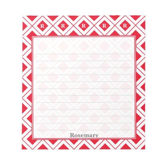 Personifizieren Sie: Zeichnen Sie die roten/weißen Notizblock