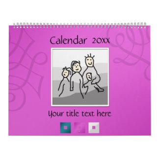 Persönliche 13 Fotos und Text 20XX Abreißkalender