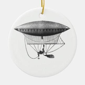 Persönliche Luftschiff-Verzierung Rundes Keramik Ornament