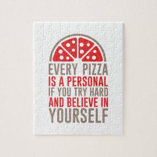 Persönliche Pizza Puzzle