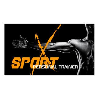 Persönliche Trainer-Fitness-Sport-Geschäfts-Karte Visitenkarten Vorlagen