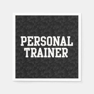 Persönliche Trainer-Schwarz-Uni Papierserviette