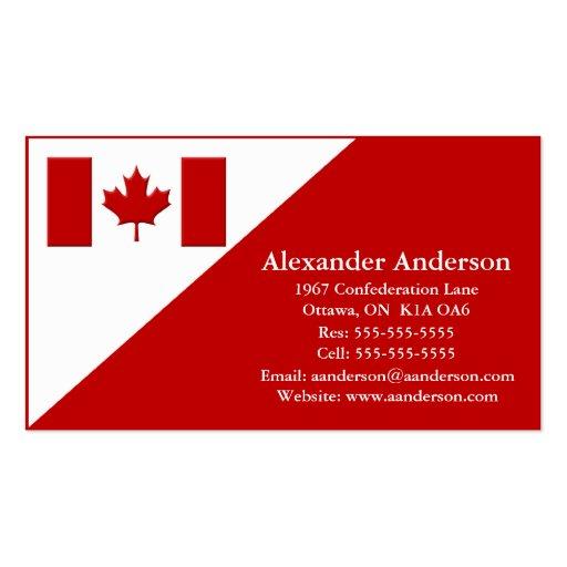 Persönliche Visitenkarte Kanada