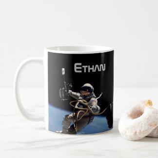 Persönlicher Astronauten-Weltraumspaziergang Kaffeetasse