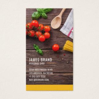 Persönlicher Kochs-Catering-Service Visitenkarte