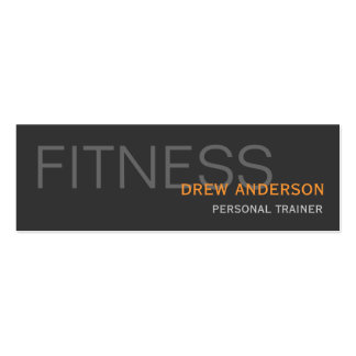 Persönlicher Trainer-moderne elegante Visitenkarte