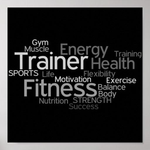 Persönlicher Trainer oder Fitness-Mittelplakat Posterdruck