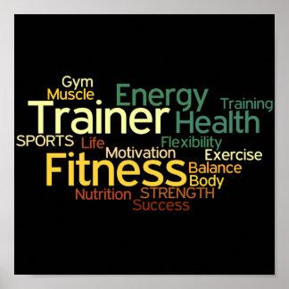 Persönlicher Trainer oder Fitness-Mittelplakat