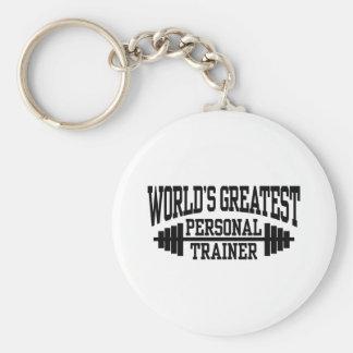 Persönlicher Trainer Standard Runder Schlüsselanhänger