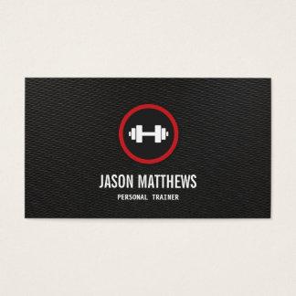 Persönlicher Trainerdumbbell-Logo-Fitness-Lehrer Visitenkarten