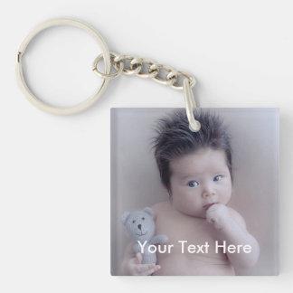 Persönliches Foto und Text Keychain Schlüsselanhänger