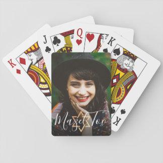 Persönliches Mitteilung Mazel Tov Goldjüdisches Spielkarten