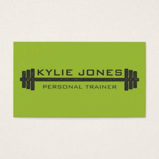 Persönliches Trainer-Fitness Barbellgewicht Visitenkarte
