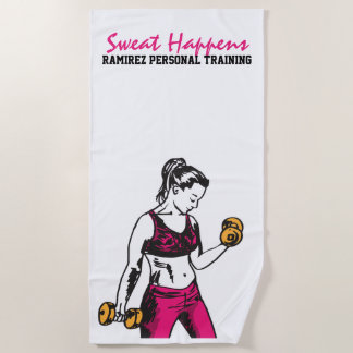 Persönliches Trainings-Frauweightlifting-Tuch Strandtuch