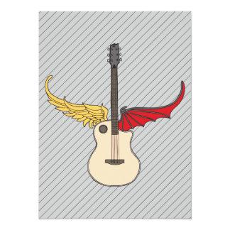 Persönlichkeit-Gitarre 14 X 19,5 Cm Einladungskarte