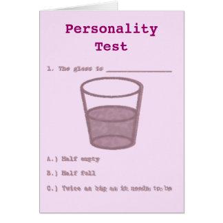 Persönlichkeits-Test Karte