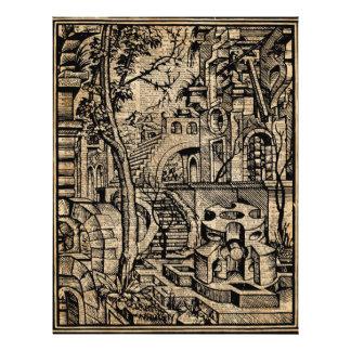 Perspektiven-Illusions-Grieche Stret 21,6 X 27,9 Cm Flyer