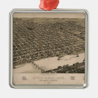 Perspektiven-Karte von Little Rock, Arkansas Silbernes Ornament