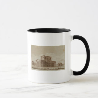 Perspektivenansicht des Hauses des Direktors Tasse