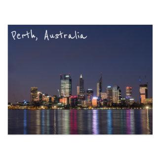 Perth-Stadt-Skylinepostkarte Postkarte
