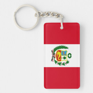 Peru Beidseitiger Rechteckiger Acryl Schlüsselanhänger