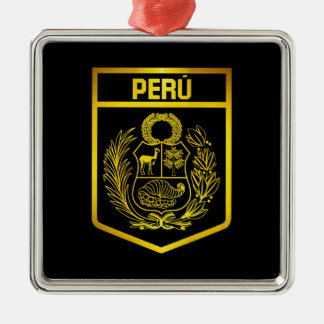 Perú Emblem Silbernes Ornament