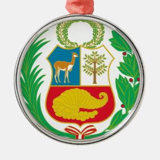 Peru - Escudo Nacional (nationales Emblem) Silbernes Ornament