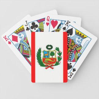 Peru-Flagge Bicycle Spielkarten