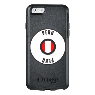 Peru-Flagge einfach OtterBox iPhone 6/6s Hülle
