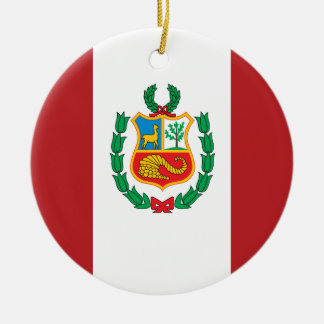 Peru-Flagge Keramik Ornament