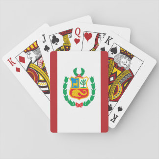 Peru-Flagge Spielkarten