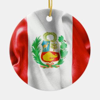 Peru-Flaggen-Keramik-Verzierung Rundes Keramik Ornament