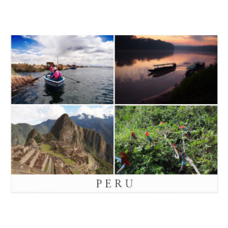 Peru-Landschaften in der Collagenandenken Postkarte