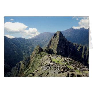 Peru, Machu Picchu, die alte verlorene Stadt von 2 Karte