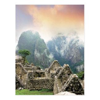 Peru, Machu Picchu, die alte verlorene Stadt von Postkarte