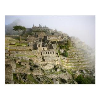 Peru, Machu Picchu. Die alte Zitadelle von Machu Postkarte