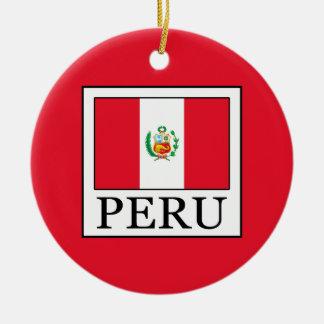 Peru Rundes Keramik Ornament