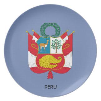 Peru-Wappen Sammelplatte Teller