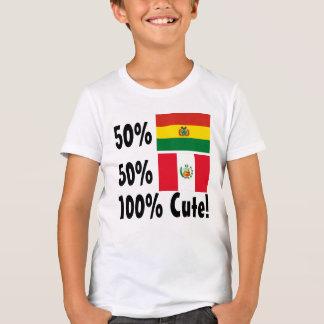 Peruaner 100% 50% Bolivianer-50% niedlich T-Shirt