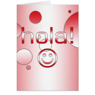 Peruanische Geschenke: Hallo/Hola + Smiley Karte