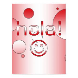 Peruanische Geschenke: Hallo/Hola + Smiley Postkarte