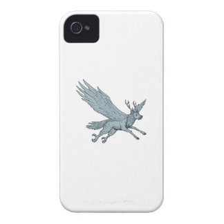 Peryton Fliegen-Seitenzeichnen iPhone 4 Case-Mate Hülle