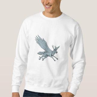 Peryton Fliegen-Seitenzeichnen Sweatshirt