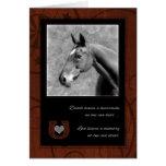 Pet Beileids-Verlust eines Pferd_Westerns Brown Grußkarte