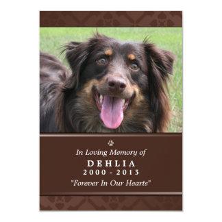 """Pet Erinnerungskarte 5"""" x7"""" dunkles Brown Foto 12,7 X 17,8 Cm Einladungskarte"""