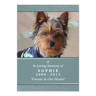 Pet Erinnerungskarten-12x18 aquamarines Gebet für 12,7 X 17,8 Cm Einladungskarte