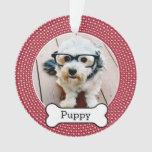 Pet Foto mit dem Hundeknochen - rote Polkapunkte